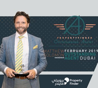 latest news The Outstanding Agent Award goes to… Matthew Solomon from haus & haus in Dubai — February 2019